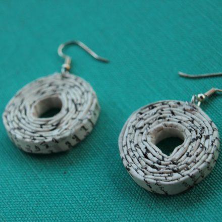 newspaper earring